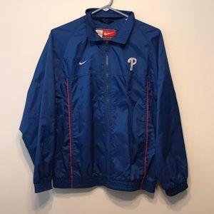 Nike Phillies Blue Jacket with Hood- Light Jacket